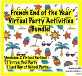 French End of the Year Virtual Activities Bundle! (Pool Pa