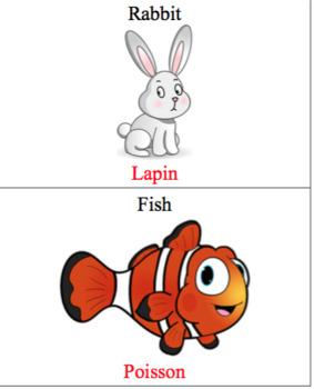 French/English Animals