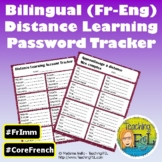 French & English Bilingual | Login Tracker Sheet for Blend