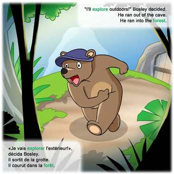 French / English Dual Language Book: Bosley Sees the World