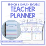 Editable Teacher Planner - French & English, UNDATED   Pla
