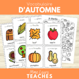 French/English Fall Vocabulary - Vocabulaire d'automne