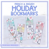 French & English Holiday Bookmarks   Christmas