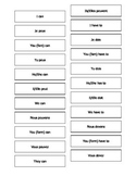 French - English Matching Cards: Modal Verbs Teaching Resources.