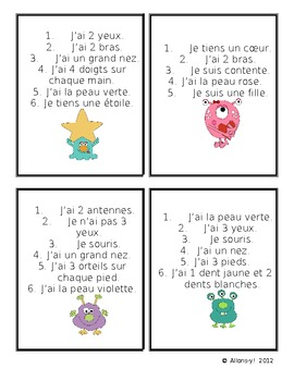 French & English Monster Game
