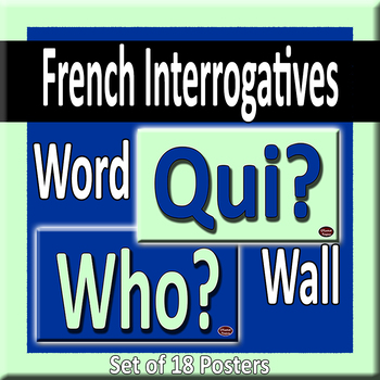 French & English Question Words/Interrogatives Word Wall