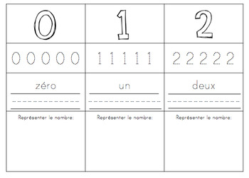 French & English Represent Your Numbers to 20