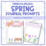 French & English Spring Digital Journal Prompts   Distance