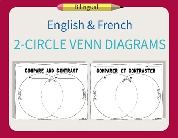 French & English Venn Diagram Compare and Contrast Worksheets