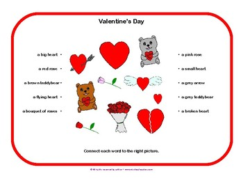 French English vocabulary on Valentine's Day FREE