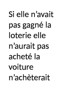 French Envelope Game - sentence scramble on Si Clauses