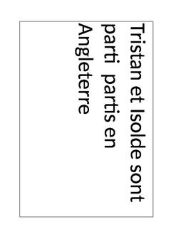 French Envelope Game - sentence scramble on past tenses