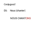 French Er verbs whiteboard practice or station activity