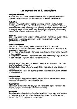 French Teaching Resources: Essay Writing Support Sheet.