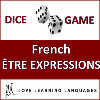French Être Expressions Dice Game - Jeu de Dés