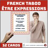 French Être Expressions Taboo Game - Jeu de Tabou en Français