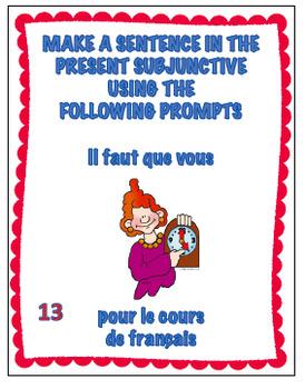 French Être Expressions Task Cards - Advanced Level - Cartes à Tâches