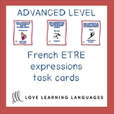 French Être Expressions Task Cards - Advanced Level - Cart