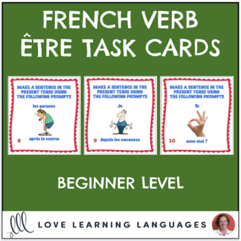 French Être Expressions Task Cards - Beginner Level - Cartes à Tâches