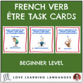 French Être Expressions Task Cards - Beginner Level - Cart