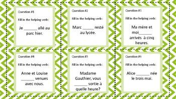 French  Être Verbs In The Passé Composé Task Cards Plus Foldable