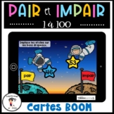 French Even Odd Numbers  Nombres pairs et impairs BOOM CARDS Distance Learning