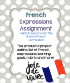 French Expressions Assignment including Rubric, Learning Goal and more