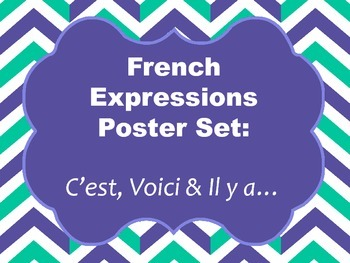 French Expressions Poster Set