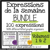 French Expressions of the Week: Vocab Organizers Vol 1 & 2