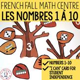 French FALL Math Centres - les nombres 1 à 10 (Centres de maths en français)