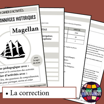 Activity book in French/FFL/FSL about Magellan - MP3 included