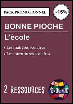 French/FFL/FSL - BUNDLE - 2 Go fish - School