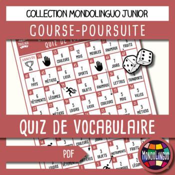 Board game to teach French/FFL/FSL - Course-Poursuite - Vocabulaire/Voc quiz