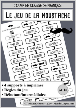 French/FFL/FSL - Board game - Jeu de la moustache