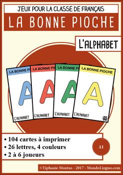 Card game to teach French/FFL/FSL: Bonne pioche - Alphabet