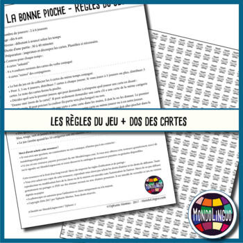 Card game to teach French/FFL/FSL: Bonne pioche - Pouvoir/To can