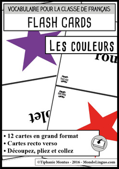 Flashcards in French/FFL/FSL: Couleurs/Colors