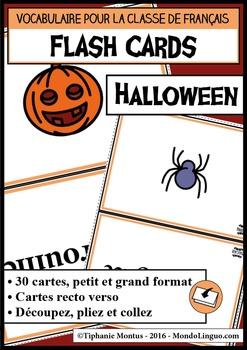 French/FFL/FSL - Flash Cards - Halloween