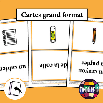 Flashcards in French/FFL/FSL: Fournitures/School Supplies
