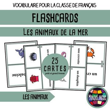 Flashcards in French/FFL/FSL: Animaux de la mer/Sea animals