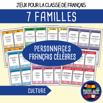 French/FFL/FSL - Games - 7 families - Famous French figures