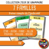 Card game to teach French/FFL/FSL: 7 familles - Verbs 1 - Futur