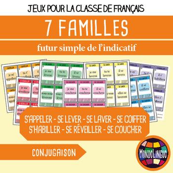 Card game to teach French/FFL/FSL: 7 familles - Verbs 4 - Futur
