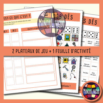 Dice game to teach French/FFL/FSL: Loisirs/Hobbies