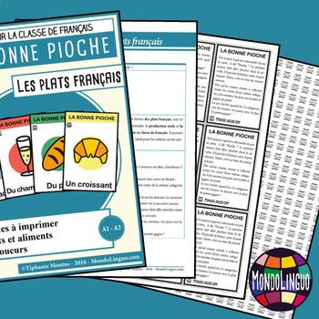 Card game to teach French/FFL/FSL: Bonne pioche - Plats français/French dishes