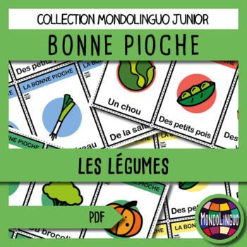 Card game to teach French/FFL/FSL: Bonne pioche - Légumes verts/Green vegetables