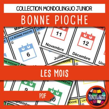Card game to teach French/FFL/FSL: Bonne pioche - Mois/Months