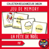 Memory Game to teach French/FFL/FSL: Noël/Christmas