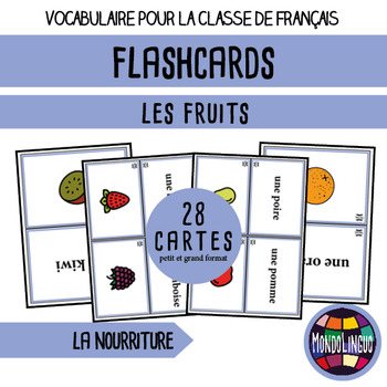 Flashcards in French/FFL/FSL: Fruit
