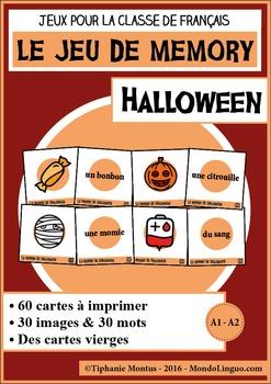 French/FFL/FSL - Games - Memory - Halloween